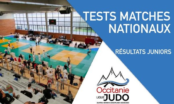 Résultats Tests Matches Nationaux Juniors - 12 & 13 Juin 2021